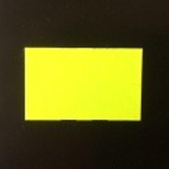 Etiket 2616 golfrand geel semie-permanent 39.600 etiketten. ( 36 rollen