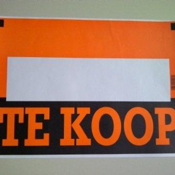 Affiche of aanplakbiljet:  TE KOOP afmeting 36x25cm