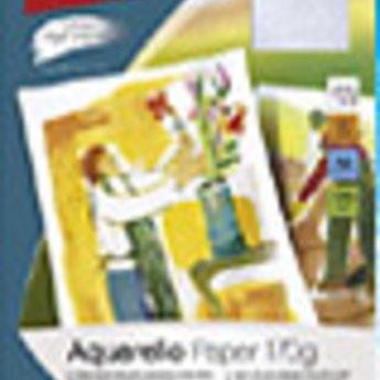 Apli Apli-nr. 11153  Aquarello Paper 170gr -A4-, pak met 10 vellen.
