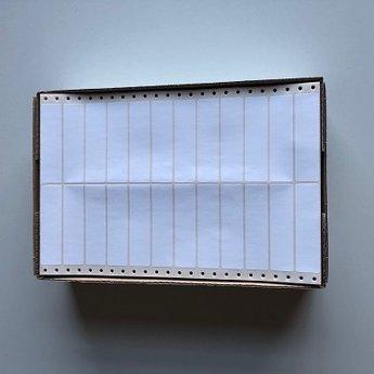 Etiketten 88x23mm  12.000 stuks, 2 baans etiketten, voorzien van pinfeed. Herma