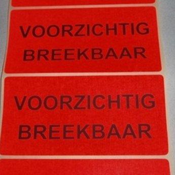 Etiket voor op paketten wit/rood 71x98 mm bedrukking:  TOP en een grote pijl, 500 per rol