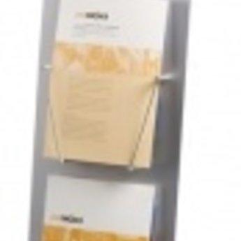"""Digi info-zuil met 8"""" scherm en 2x A4Deze vloerstandaard is 100 cm hoog. De standaard is voorzien van twee folderhouders.Door zijn geringere hoogte wordt de info-zuil veel toegepast in showrooms zoals bijvoorbeeld bij auto- motor- en caravandealers. Ho"""