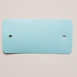 PVC-labels 54x108 mm pastel blauw 2gaten