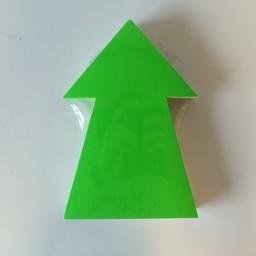 Fluor pijl 22x15 cm fluor groen  50stuks