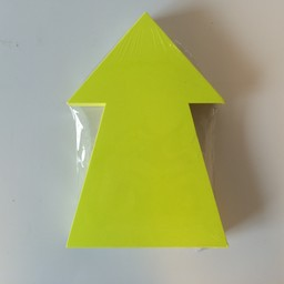 Fluor pijl 22x15 cm fluor geel  50 stuks
