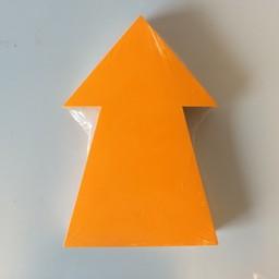 Fluor pijl 22x15 cm fluor oranje 50stuks