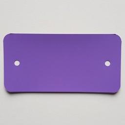 PVC-labels 54x108 mm paars 2gaten 1000st