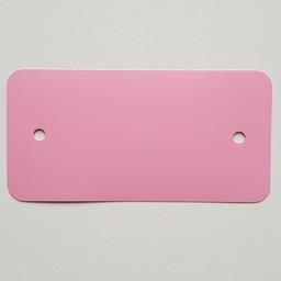 PVC-labels 54x108 mm rose 2 gaten 1000