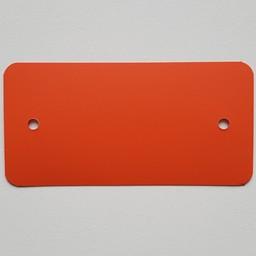 PVC-labels 54x108 mm oranje 2 gaten 1000