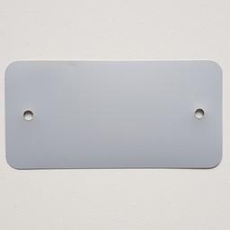 PVC-labels 54x108 mm grijs 2 gaten  1000