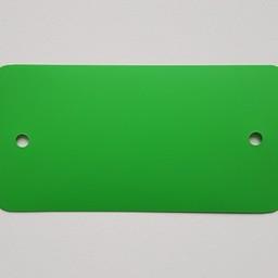 PVC-labels 54x108 mm groen 2gaten 1000st