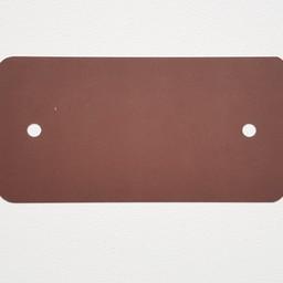PVC-labels 54x108 mm bruin 2gaten 1000st