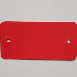 PVC-labels 54x108 mm rood 2 gaten 1000st