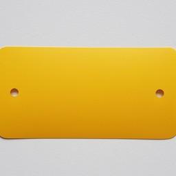 PVC-labels 54x108 mm geel 2 gaten 1000st