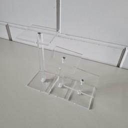 Acryl-schoenstandaard-set 7x7cm 5-10-15