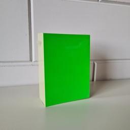 Prijskaart blanco fluor groen 12x16cm100