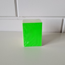Prijskaart blanco fluor groen 6x8cm 100