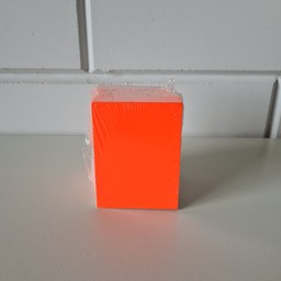 Prijskaart blanco fluor rood  6x8 cm 100