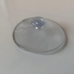 Zuignap transp 60 mm zonder haak   100st