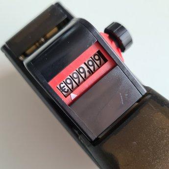 Blitz Prijstang BLITZ C6 is een 1-regelige prijstang met als afdruk €345.78 met grote cijfers.