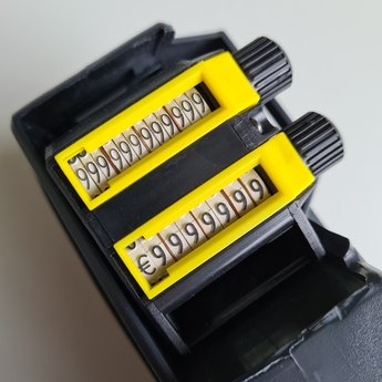 Contact Prijstang Contact 20.37 - 2-regelig grote voor etiketten 37x19mm rechthoek