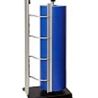 Folie afroller grijs 60cm - vertikaal staand model. Uitvoering met KARTELMES. Afmeting bxhxd 295x700x240mm
