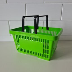 Winkelmandje licht groen 2 hand 22 liter
