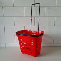 Winkelmand 34L Shop&Roll rood