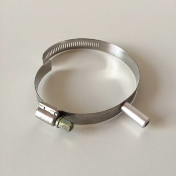 Buisklem variable voor buisdiameter  60-80mm. Buisklem voor op kledingrek, zonder T-stuk