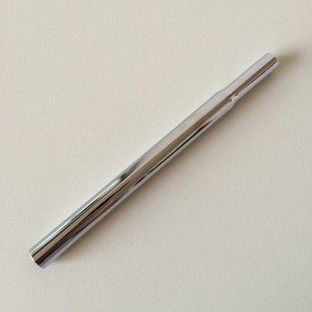 Buis chroom vast 310 mm.  Diameter bovenzijde is 10mm, en aan de onderzijde is de diameter 12mm.