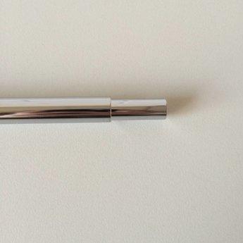 Buis chroom verstelbaar  320-620 mm. Bestaat uit 2 in elkaar geschoven buizen. Diameter bovenzijde is 10mm, en aan de onderzijde is de diameter 12mm.