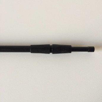 Buis zwart kunststof verstelbaar 320-600