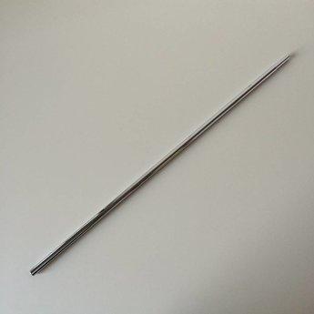 Buis chroom verstelbaar  600-900 mm. Bestaat uit 2 in elkaar geschoven buizen. Diameter bovenzijde is 10mm, en aan de onderzijde is de diameter 12mm.