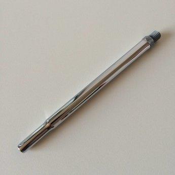 Buis chroom 16cm met draad M10. Diameter aan de bovenzijde is 10mm.