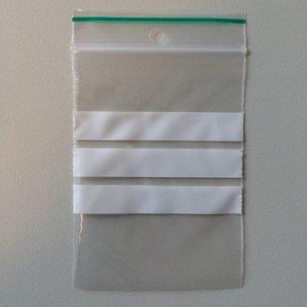 Gripzakjes 60x80 mm met schrijfvlak dikte 50 micron per verpakking van 100 stuks
