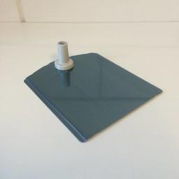 Voetplaat metaal-buishouder - grijs