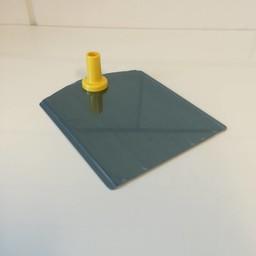 Voetplaat metaal-buishouder - geel
