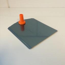 Voetplaat metaal-buishouder - oranje