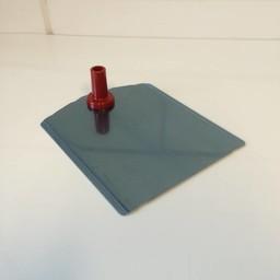 Voetplaat metaal-buishouder - rood