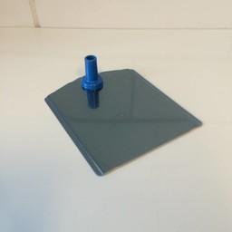 Voetplaat metaal-buishouder - blauw