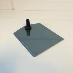 Voetplaat metaal-buishouder - zwart