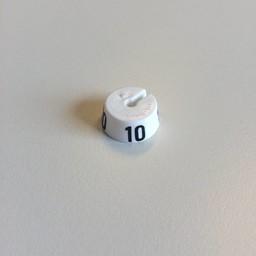 MB wit/zwart  10 voor op kledinghanger