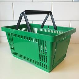 Winkelmandje groen BIG met 2 handgrepen