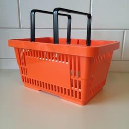 Winkelmandje oranje 2 handgrepen 22liter