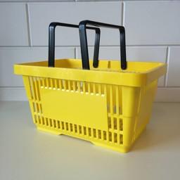 Winkelmandje geel  2 handgrepen 22 liter