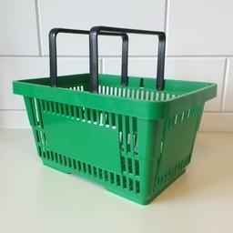 Winkelmandje groen 2 handgrepen 22 liter