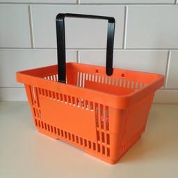 Winkelmandje oranje 1 handgreep 22 liter