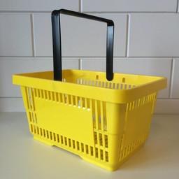 Winkelmandje geel 1 handgreep 22 liter
