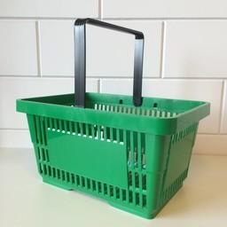 Winkelmandje groen 1 handgreep 22 liter