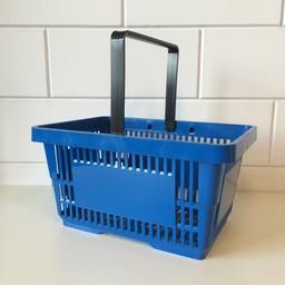 Winkelmandje blauw 1 handgreep 22 liter